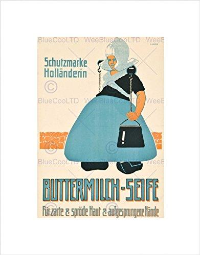 AD Food Kitchen Milk Butter German Greger BUTTERMILCH SEIFE Art Print B12X6160