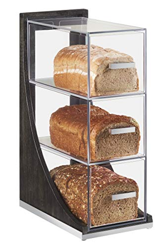 "CAL-MIL 3815-87 3 Tier Bread Box, Cinderwood, 6.5"" x 13"""