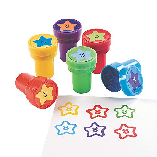 Star Stampers - Bulk Set of 24 - Safe and Non-Toxic - Classroom Supplies and Party Favors