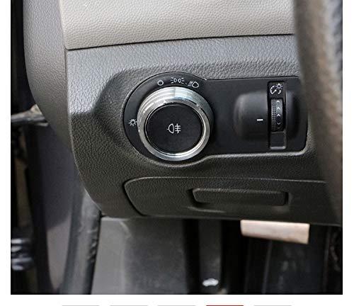 NO LOGO Aluminium-Legierung Lampe Scheinwerfer Schalter Dekoration-Aufkleber for Chevrolet Malibu Cruze Trax Opel Mokka Astra J Insignia (Color : Gray)