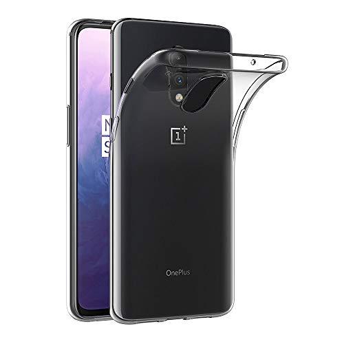 AICEK Hülle Compatible für OnePlus 7 Transparent Silikon Schutzhülle für OnePlus 7 Hülle Clear Durchsichtige TPU Bumper OnePlus 7 Handyhülle (6,2 Zoll)