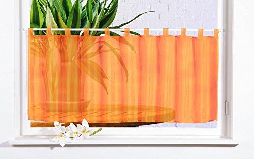 Gardinenbox Scheibengardine Uni Voile, 50x160, Orange, 61070