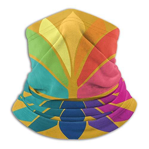 AEMAPE Indi-an Symbol Art Mascarilla para el Cuello Calentador de Cuello Bufanda Bandana Bufanda Pasamontañas