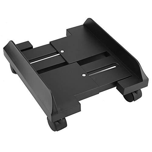 Soporte de CPU Para PC Soporte de Caja de Computadora Soporte de Almacenamiento de Mainframe de Escritorio con Freno con 4 Ruedas Giratorias(Negro)