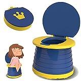 TOGOTTAI Toilettensitz Kinder Reisetöpfchen Kinder Tragbars Faltbares Töpfchen Training Sitze Kleinkinder Travel Töpfchen für Unterwegs mit Einweg Töpfchen Einlagen