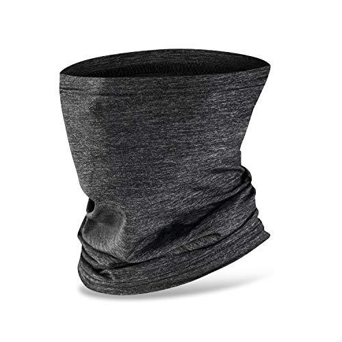 Nahtlose Bandana Face Shield Halstuch Schlauch Multifunktionstuch Schal Gesichtsmaske Balaclava, Flexibel Stirnband Kopftuch Neck Gaiter Mundschutz | UVSchutz Winddicht für Motorrad Wandern (grey)