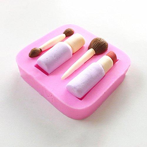 B Blesiya Lippenstift Pinsel Make Up Silikon Kuchen Schimmel Backen Fondant Zucker Handwerk Dekor
