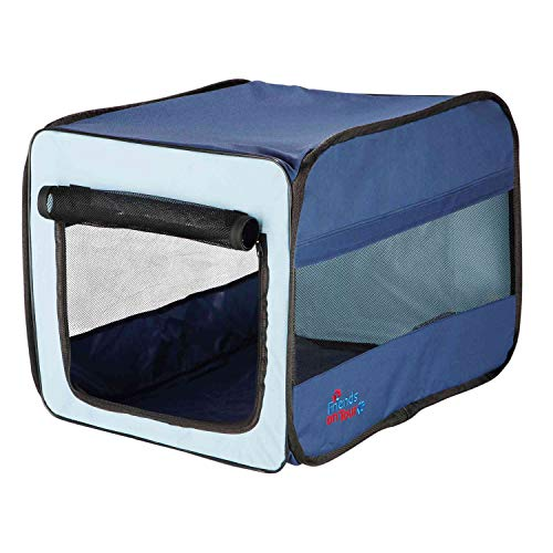 Trixie 39692 Transport-Hütte Twister, faltbar, hellblau/dunkelblau, Größe S, 45 × 45 × 64 cm - 4