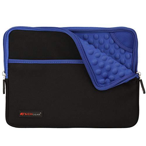 TECHGEAR Funda Protectora de Neopreno Delgada Cremallera con al Interior de Burbujas Anti-Golpes Carcasa para iPad 10.2, iPad 9.7, iPad Pro 11, Pro 10.5, iPad Air 4 10.9, Air 2, iPad 4 3 - Azul