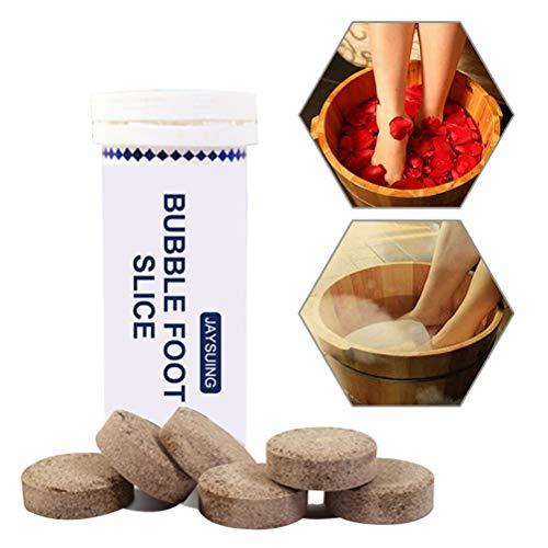 Stylelove 1 Flasche / 6 Tabletten Fußbad Tabletten Fußbad Einweichen Geeignet für kalte Füße Fußpflege für beruhigende Füße Männer Frauen