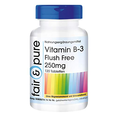 Vitamina B3 250mg Flush Free - Vegan - 120 Compresse