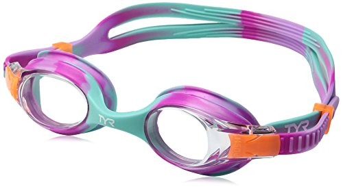 TYR Kids Swimple Tie Dye Googles, Clear/Pink/Mint, One Size