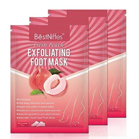 Foot Peel Mask Exfoliating - 3Pack Baby Peeling Scrub Mask Dead Skin cells Remover Repairs Rough Heels & Get Smooth in 5 Days