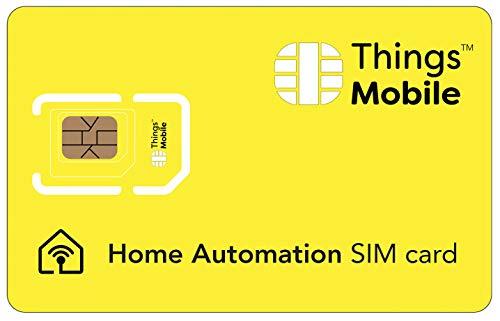 SIM-Karte für HOME AUTOMATION - Things Mobile - mit weltweiter Netzabdeckung und Mehrfachanbieternetz GSM/2G/3G/4G. Ohne Fixkosten und ohne Verfallsdatum. 10 € Guthaben inklusive