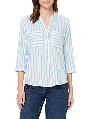 VERO MODA Damen Hemd mit 3/4 Ärmeln Gestreiftes XLSnow White 13