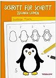 Schritt für Schritt Zeichnen lernen Lustige Tiere: Die neue Zeichenschule ab 6 Jahren (Malbücher und -blöcke)