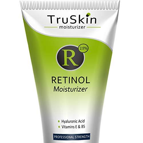 RETINOL Cream MOISTURIZER for Face and Eye Area - [BIG 4-oz Size] - Best for Wrinkles, Fine Lines - Vitamin A, E, B5, Hyaluronic Acid, Organic Jojoba Oil, Green Tea. 4 Fl Oz