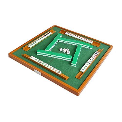Roeam Mahjong Brettspiel, Mini Mahjong Set mit Klappbarem Mahjong Tisch, Tragbares Mahjong Spiel Set für Familienspiele Partyspiele Reisespiel