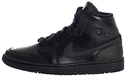 Nike Damen WMNS AIR Jordan 1 MID Basketballschuh, Schwarz, 37.5 EU