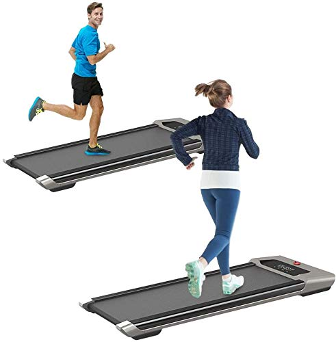 SEAAN Under Desk Treadmill 2 in 1 Walking Machine Exercise Machine Portable Space Saving Fitness Motorized Folding Treadmill Electric for Indoor Home Office Workout Exercise Machine (US Stock)