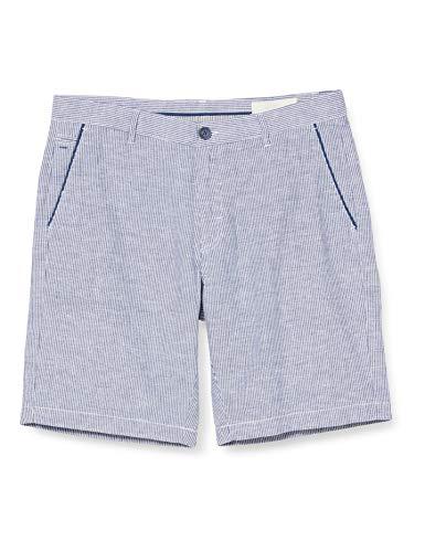 Springfield FRQ Bermuda Lino Rayas-c/14 Pantalones, (Multicolor 43784014), (Tamaño del Fabricante: 42) para Hombre