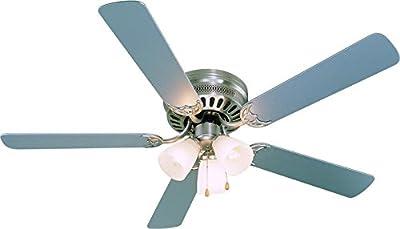 Hardware House 23-8687 Bermuda Ceiling Fan, 52, Satin Nickel