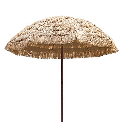 SYGSZF Ombrellone in Paglia, ombrellone da Spiaggia ombrellone ombrellone Hawaii Pieghevole e inclinabile, Adatto per Il Cortile della Piscina del Prato della Spiaggia