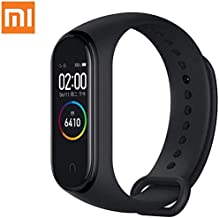 "PADY Compatible with 0.95"" 3 Color AMOLED Screen Smart Bracelet Smartband Heart Rate Monitor Sleep Monitor Fitness Tracker Bluetooth Sport 5ATM Waterproof Xiaomi Mi Band 4 (Black-Global Version)"