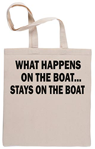 What Happens On The Boat Stays On The Boat Einkaufstasche Beige Shopping Bag Beige