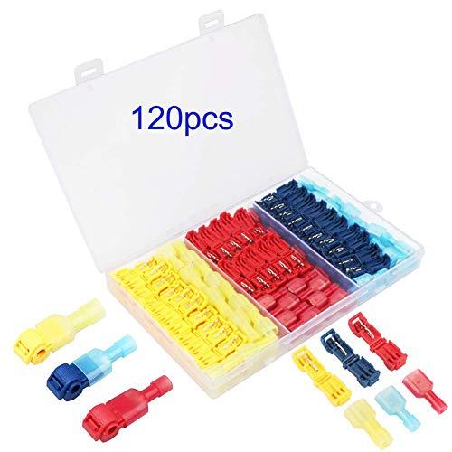T-Tap cable conector surtido Kit Pack de 120, terminales de cable robacorriente...