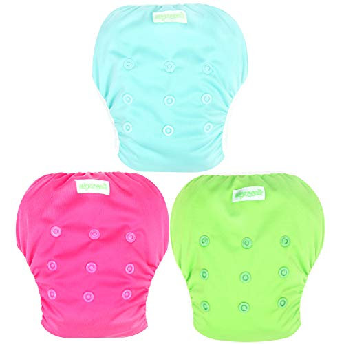 Wegreeco Baby & Toddler Snap One Size Adjustable Reusable Baby Swim Diaper (Fresh,Small,3 Pack)