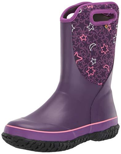 BOGS Slushie Waterproof Snow Boot for Boys and Girls, Night Sky-Purple Multi, 1 M, 1 US Unisex Little Kid