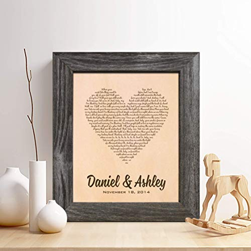 Personalized Leather 3rd Anniversary Gift for Him or Her, First Dance Song Leather Engraving, Gifts for Husband and Wife
