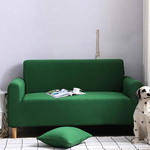 HXTSWGS Fundas para Sofa de 1,2,3 Plazas,Funda elástica para sofá, Taburete para Silla, Funda para Muebles, Funda para Silla de sofá-Verde Oscuro_235-300cm