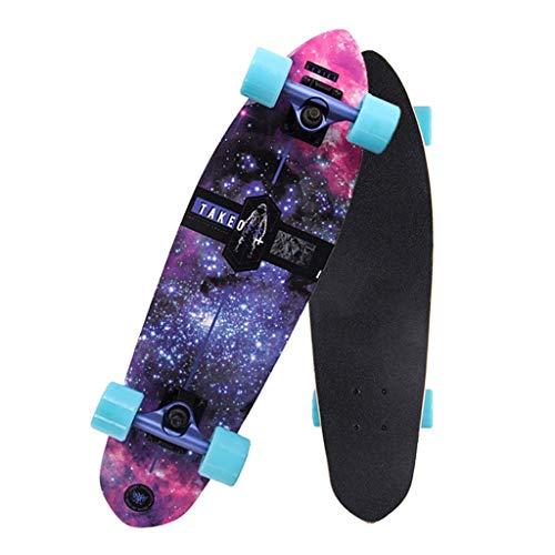 LQH Deck-Tanz Skateboard Shortboard Gift Skateboard 26x7 In, Teenager-Alter Skateboard Complete Skateboard 7 Schichten Ahorn Adult Fähigkeiten Anfänger Skateboard, Jungen und Mädchen-Skateboard