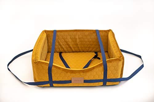 MOOI Hundebett Hundesofa Waschbar Hundekörbchen Exklusiv Katzenbett Haustierbett Hundekissen für kleine mittlere große Hunde I Gold I S