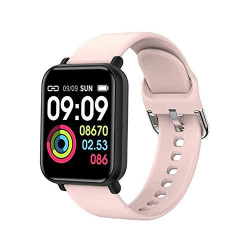Pulsera inteligente de actividad física/pulsera inteligente inteligente impermeable IP68 deportes pulsera inteligente pulsera para niños mujeres hombres rosa deporte fitness tracker-rosa