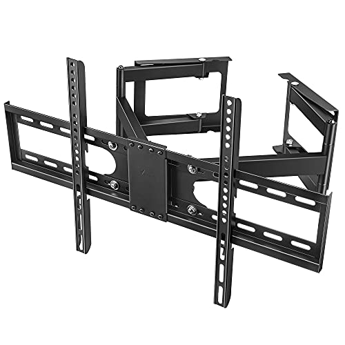 Vemount Corner TV Wall Mount Full Motion Corner TV Mounts for 32-65 inch LCD LED OLED Flat Curved Screen TVs up to 99 LBS Articulating Corner Mount TV Bracket with Max VESA 600x400mm Swivel Rotate