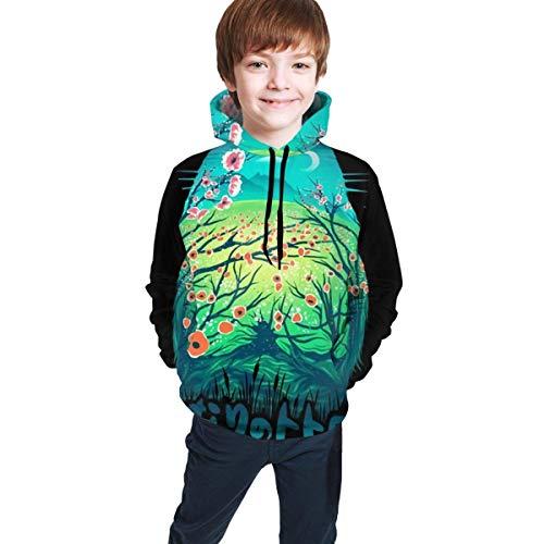 XCNGG Teen Sweater Boy Sweater Girl Sweater Sudadera con Capucha Toto-Ro Anime Hooded Boys Long Sleeve Sweatshirt Novelty Teen Pullover Tops