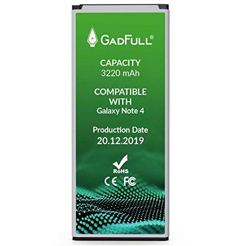 GadFull Akku für Samsung Galaxy Note 4 | 2019 Baujahr | Entspricht Dem Original EB-BN910BBE | Lithium-Ionen-Akku der Modelle SM-N910F | SM-N910U | SM-N910C | SM-N910H | SM-N910A