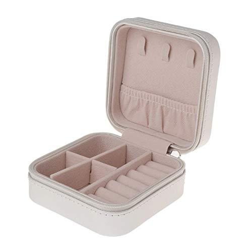 JFCXBSSL Jewellery Boxes For Women White Portable Jewelry Storage Box Stud Earring Necklace Jewelry Storage Box