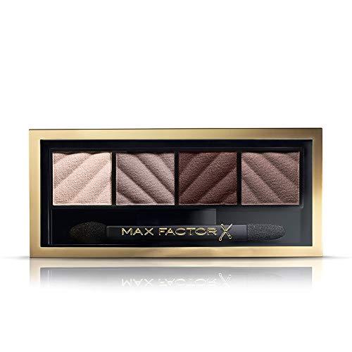 Max Factor Palette Smokey Eye Drama Kit, 4 Ombretti Iper Pigmentati Modulabili, 030 Smokey Onyx