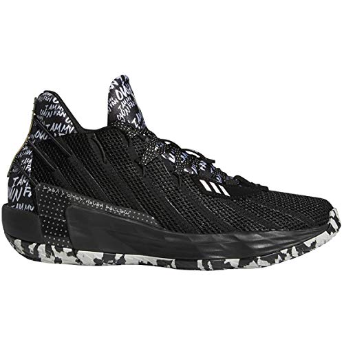 Adidas Dame 7 Black/Silvermet Basketball Shoes 11.5
