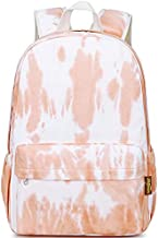 Canvas School Bag Backpack Girls, Mygreen Ranibow Style Unisex Fashionable Canvas Zip Backpack School College Laptop Bag for Teens Girls Students Casual Lightweight Travel Daypack Outdoor
