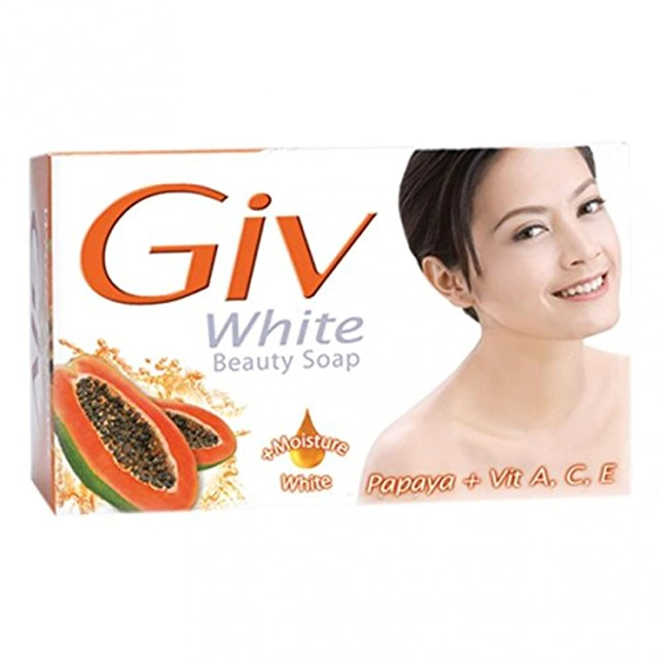 ボール主婦ブルーベルGIV ホワイト美容石鹸パパイヤ、80グラム5(パック