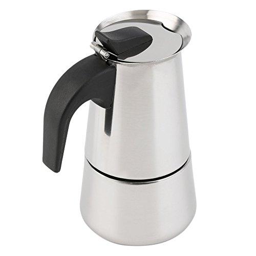 BlackUdragon 2/4/6 tazas de café percolador cafetera cafetera Moka Espresso Latte Olla de acero inoxidable