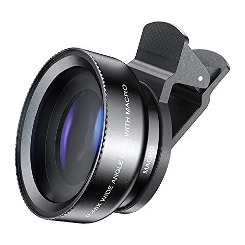 Comius Sharp Kit de lentes de cámaras telefónicas universales Lente gran angular 0.45X Lente macro 10X Lente de teléfono con clip para todos los teléfonos inteligentes