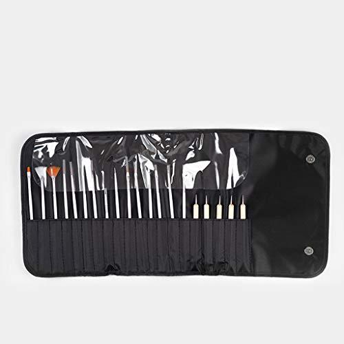 HoneyGod Nail Art Supplies with 15Pcs Brushes Set with 5Pcs Dotting Pens - 3D 2 Way Glitter Nail Diamonds Rhinestones Kit Dotting Pen Tool Dot Paint Manicure Kit Nail Art Tip Photo #4