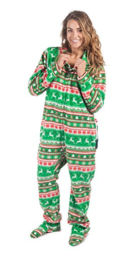 Forever Lazy Footed Adult Onesie - Reindeer Games - XXS
