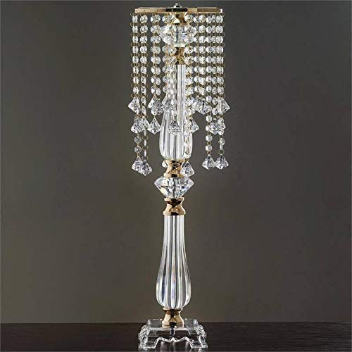 "Efavormart Gold 28"" Tall Eye Catching Diamond Crystal Chandelier Wedding Centerpiece"